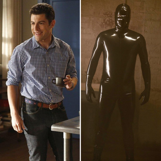 Schmidt From New Girl as the Rubber Man