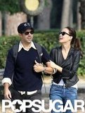 Olivia Wilde laughed as she walked with Jason Sudeikis.