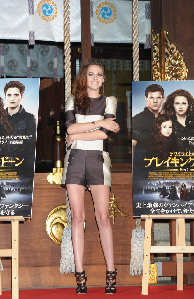 Kristen Wears Short Shorts to Kick Off Breaking Dawn Promotions