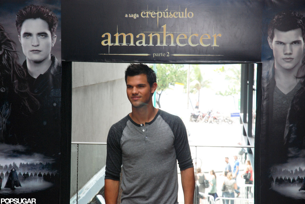 Taylor Lautner made an appearance in Brazil.