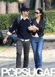 Olivia Wilde and Jason Sudeikis kept close on their walk.