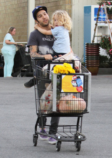 Pete Wentz and his son Bronx went shopping for pumpkins at the market in LA.