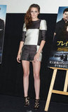 Kristen Stewart stepped out to promote Breaking Dawn Part 2.