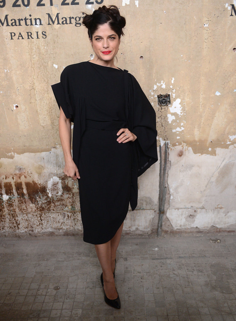 Selma Blair chose a black dress for the NYC event.