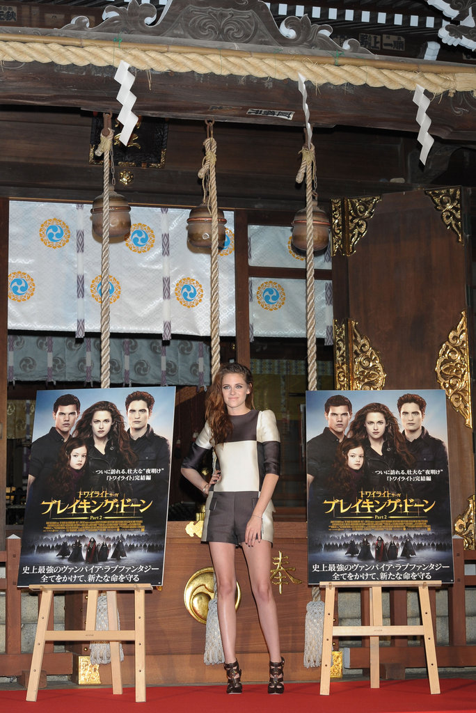 Kristen Stewart attended a Breaking Dawn — Part 2 promotional event in Japan.