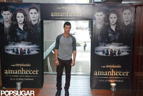 Taylor Lautner promoted Breaking Dawn Part 2 in Rio de Janeiro.