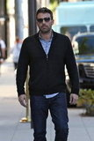 Ben Affleck spent the afternoon solo.