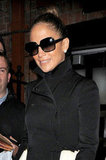 Jennifer Lopez sported a pair of sunglasses.