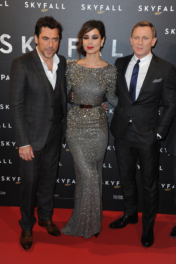 Javier Bardem and Daniel Craig posed with the newest Bond girl, Bérénice Marlohe.
