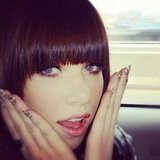 Carly Rae Jepsen shared a photo of her nail art. Source: Instagram user carlyraejepsen
