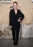 Julianne Moore kept it classic in a black suit.
