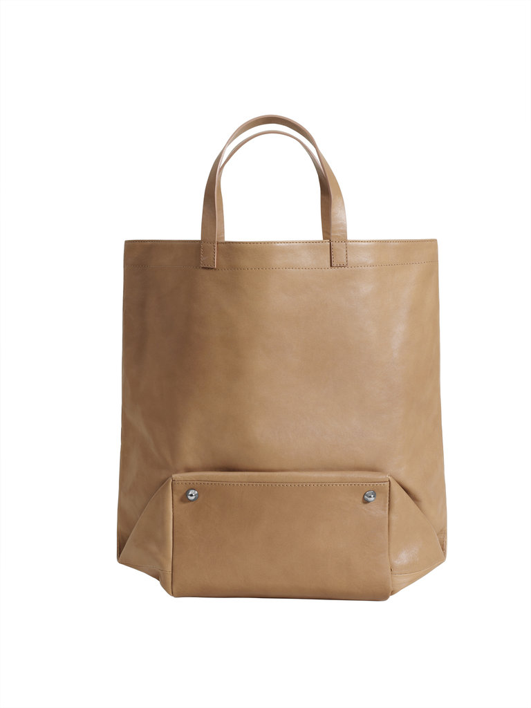 Folded base tote ($199)