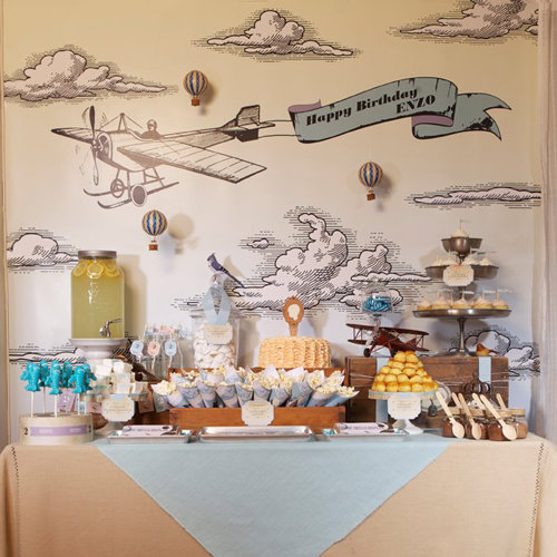 Vintage Airplane Birthday Party