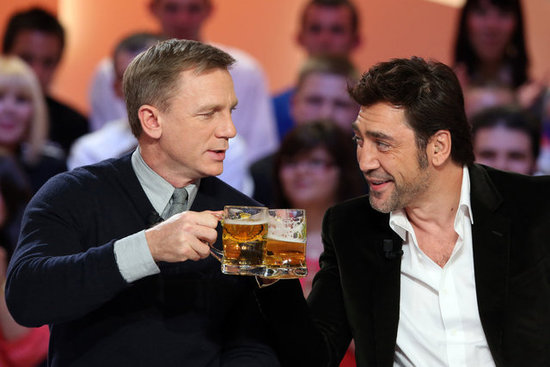Daniel Craig and Javier Bardem Show Bond's New Interest in Beer