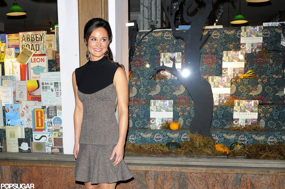 Pippa Middleton posed for photos at the launch of Celebrate in London.
