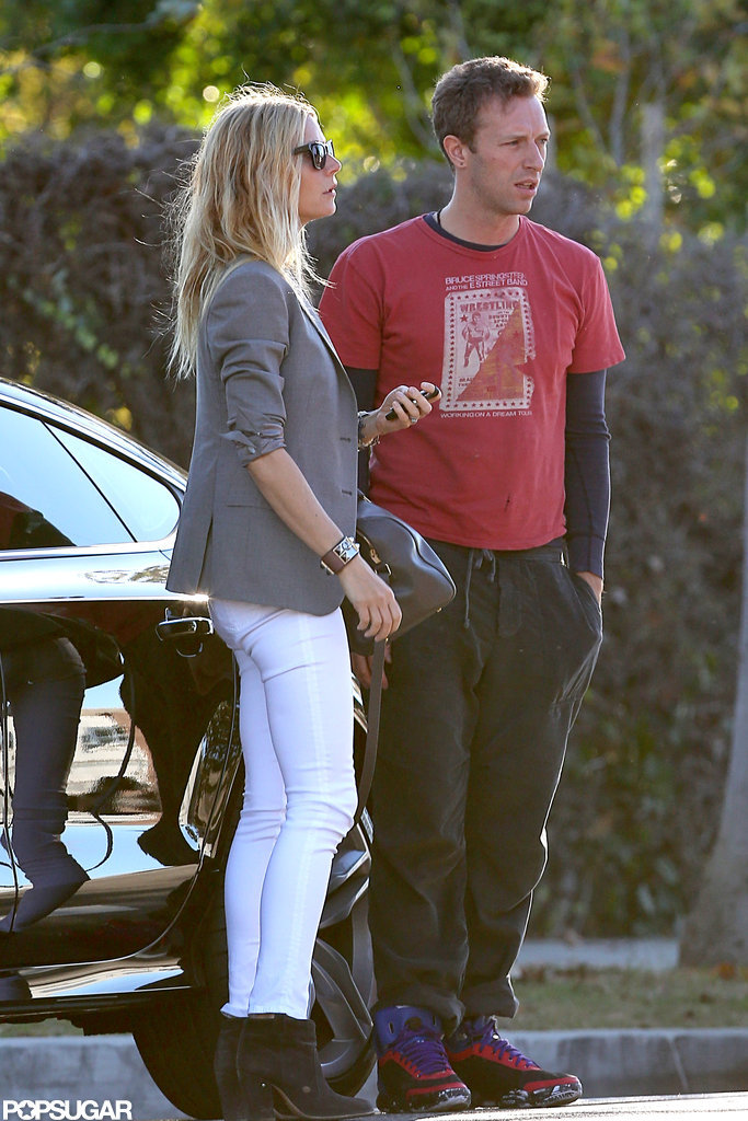 Gwyneth Paltrow and Chris Martin ran errands in LA together.