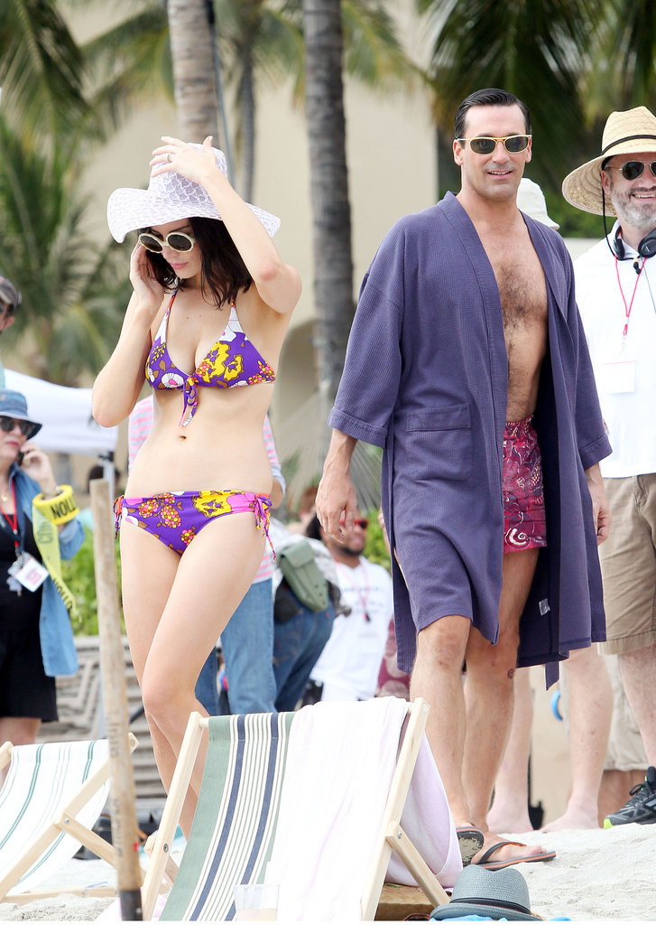Shirtless Jon Hamm Heads to Hawaii For Mad Men Season Six