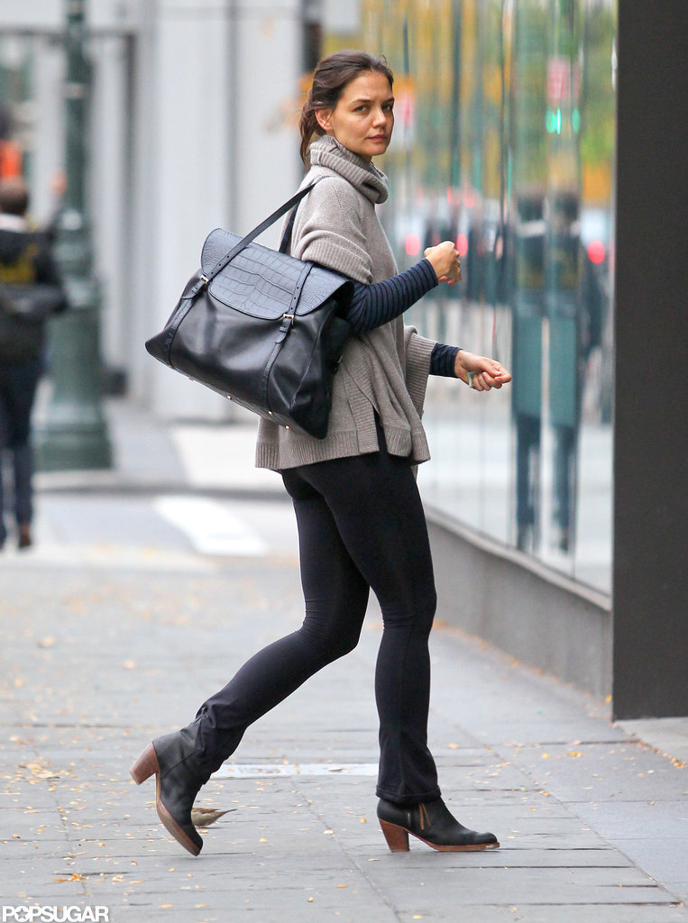 Katie Holmes went shopping at an NYC Whole Foods.