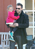 Seraphina got a lift from Ben Affleck.