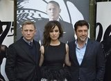 Daniel Craig, Javier Bardem, and Bérénice Marlohe posed for photos in Paris.