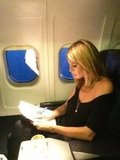 Heidi Klum got some work done on the plane. Source: Twitter user heidiklum