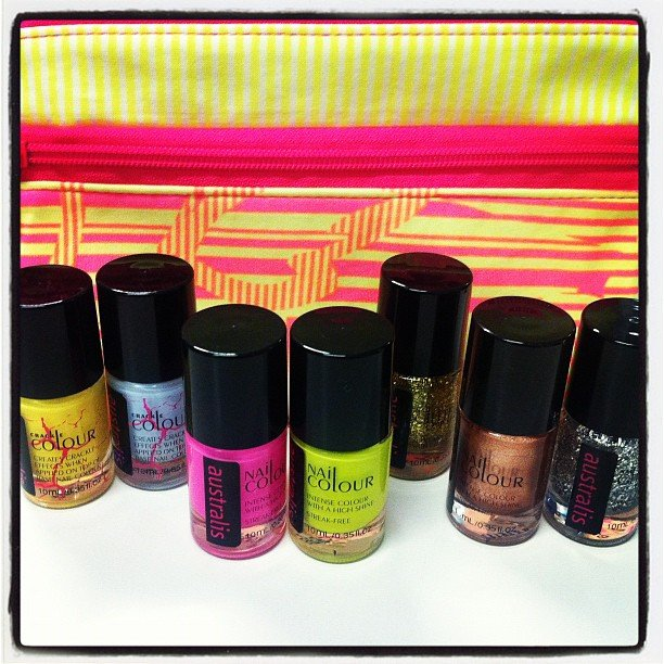 All the pretty colours! New Australis nail polishes, yes please.