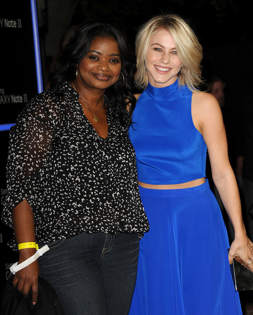 Octavia Spencer and Julianne Hough met up inside the bash.