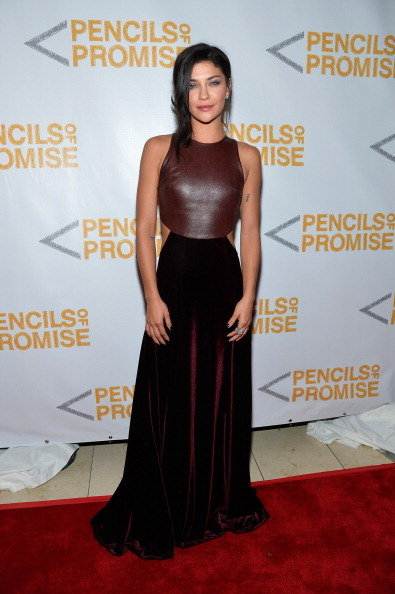 Jessica Szohr hit the red carpet at the Pencils of Promise Gala.