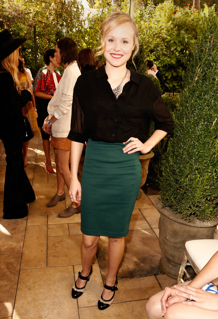 The Newsroom's Alison Pill kept it simple and sophisticated in a pencil skirt and blouse combo.