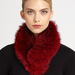 We love the deep red hue on this Sherry Cassin Classic Fur Clip Collar ($225).