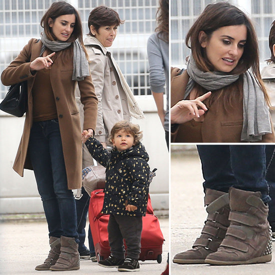 Digging Penélope Cruz's coat and sneaker combo? Shop it now.