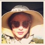 Miranda Kerr had all the right sun protection on a recent safari. Source: Instagram user mirandakerrverified