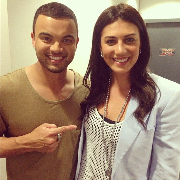 Stephanie Rice was a special guest at a live show of The X Factor and linked up with judge Guy Sebastian backstage. Source: Instagram user guysebastian