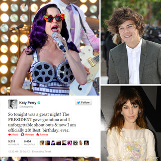 Best Celebrity Tweets: Katy Perry, Alexa Chung, Harry Styles