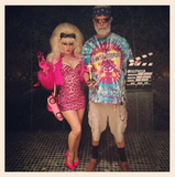 Fergie and Josh Duhamel were Angelyne and Dennis Woodruff in 2012.  Source: Instagram user fergie