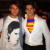 Steven R. McQueen of The Vampire Diaries went as Superman (but I'd like to know the story behind his friend's Ian Somerhalder shirt). Source: Instagram user steve_mcqueen