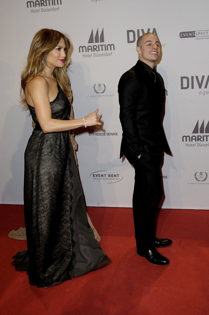 Jennifer Lopez hit the red carpet in Germany with Casper Smart.