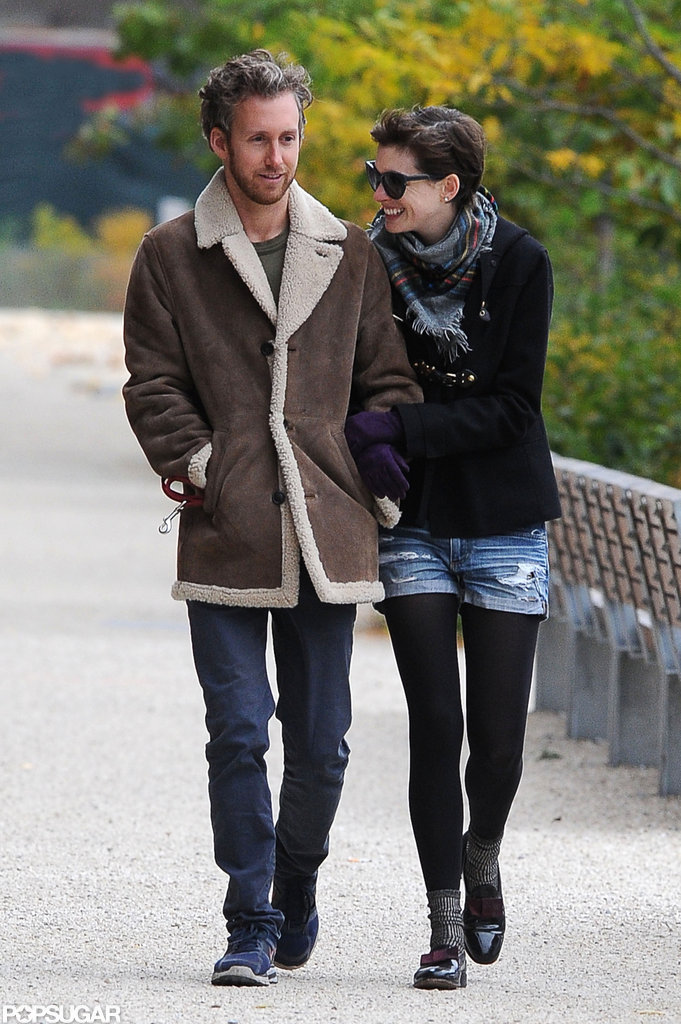 Anne Hathaway and Adam Shulman stepped out together in NYC.