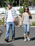 Ashton Kutcher and Mila Kunis enjoyed a day out in LA together.