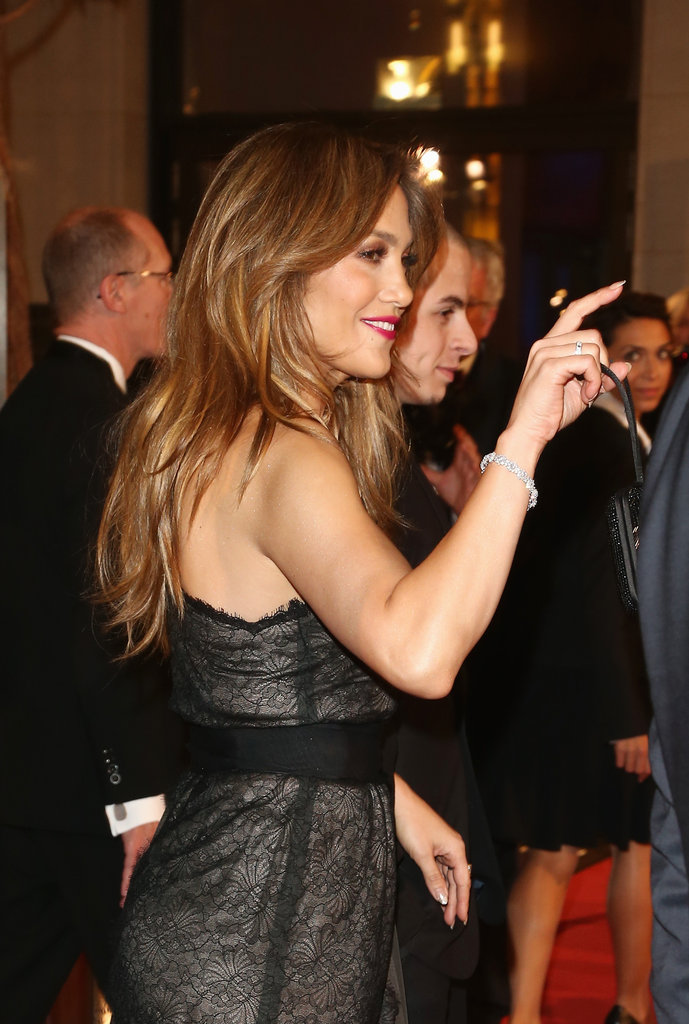 Jennifer Lopez arrived at the UNESCO Charity Gala with Casper Smart in Germany.