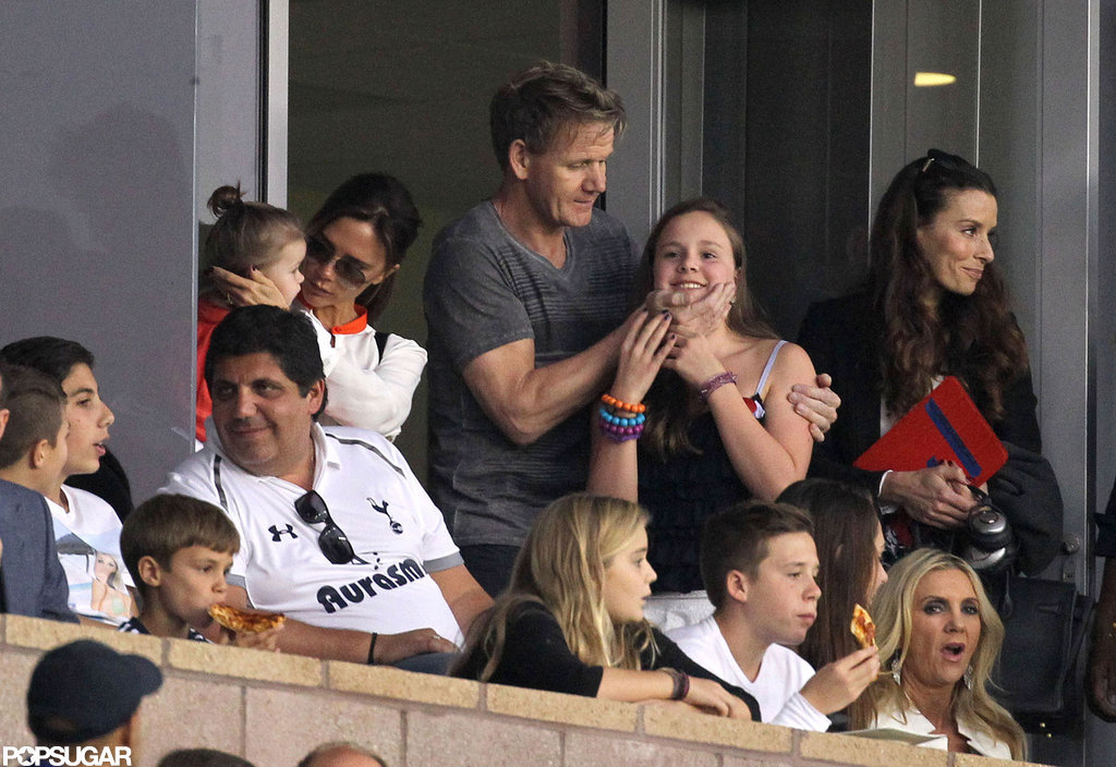 Gordon Ramsay watched the LA Galaxy with his family in LA.