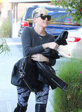 Miley Cyrus headed to the studio in Burbank.