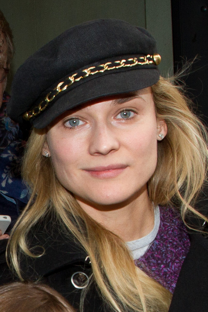 Diane Kruger flashed a smile in Paris.