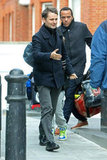 Matthew Bellamy wore a coat out in London.