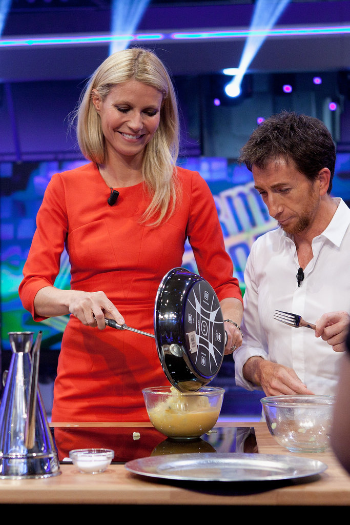 Gwyneth Paltrow filmed a cooking segment.