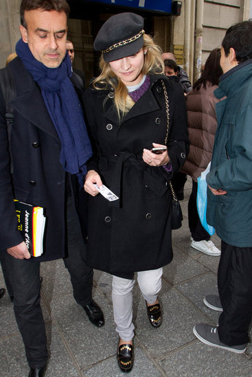 Diane Kruger left after a radio visit in Paris.