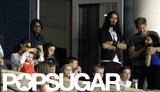 Russell Brand and Gordon Ramsay watched the LA Galaxy.