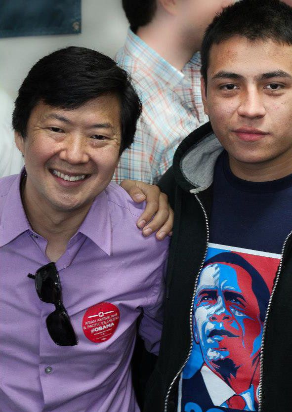 Ken Jeong met with Las Vegas voters.  Source: Facebook user Obama For America