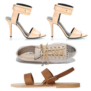 Classic Wardrobe Essentials: Alex Wang, Miu Miu Nude Shoes