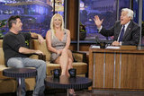 Simon Cowell and Britney Spears chatted with Jay Leno.